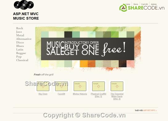 MVC Music Store + database + file manual